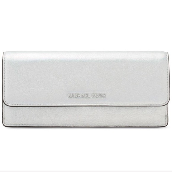 63c8c0d711a1 New authentic MK silver leather wallet